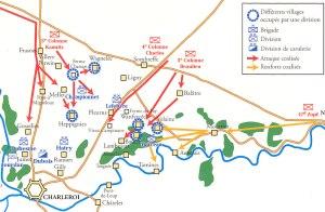 battle of Fleurus-1794-battlemap