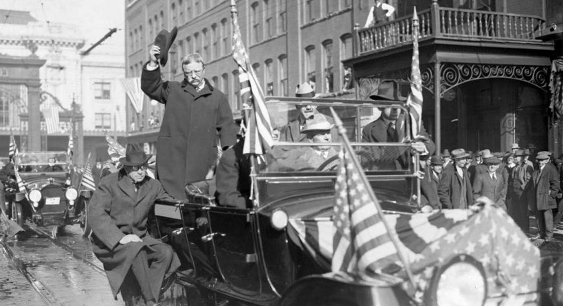 Theodore Roosevelt Campaigning 1902